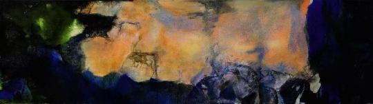 赵无极《1985年6月至10月》 280×1000cm ,油画画布(三联屏) 1985年作估价待询