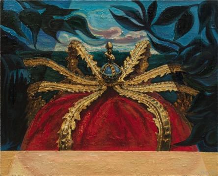 《历史塑造-红色的王冠》 80x100cm 布面油彩 2018