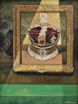 《永痕-献给新蒙娜丽莎的皇冠》 80×60cm布面油画2013年