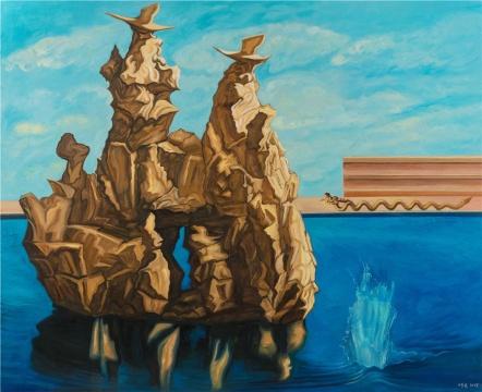 《历史塑造-大湖水》 200x250cm 布面油彩 2018