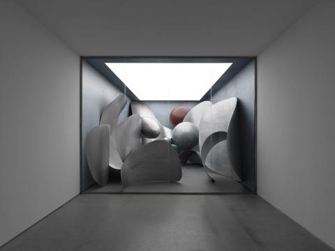 刘韡 《微观世界》铝板 尺寸可变 2018  © 刘韡工作室 摄影:雷坛坛  © 林冠艺术基金会