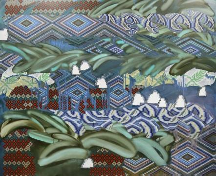 《卧游:基里姆》190 x 230cm布面丙烯、油画2018