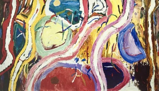 吉莲·艾尔斯《异乡之地》 213.5 x 367 cm 布面油画(双联画) 1998