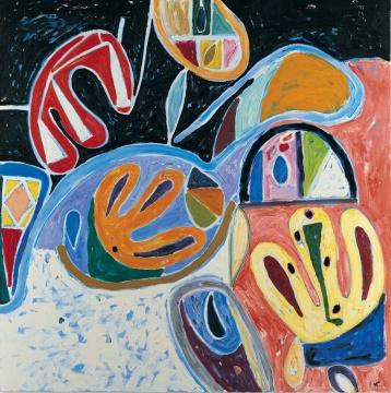 吉莲·艾尔斯《回归》213 x 213 cm 布面油画 2006