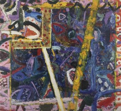 吉莲·艾尔斯《蓝宝石》264.5 x 294.5 cm 布面油画 1987