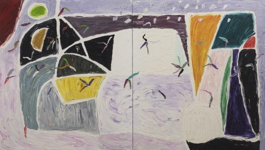吉莲·艾尔斯《白色之风》 244 x 427cm 布面油画 1998-1999