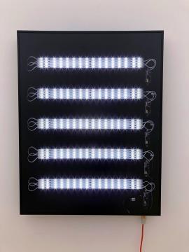 曾家伟,《内部结构5》,LED灯箱、灯片90×69.7×8cm,2017