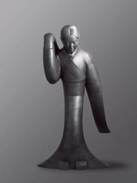 《故国·风5#》 铅皮、铅丝  106×123×198cm  2008