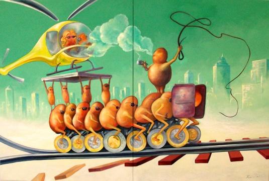 Till the End, Acrylic, Oil on canvas, 120x160cm, 2015, Klaus Risse