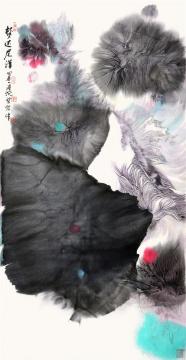 陆沉《梦还尼洋曲(河)之一》138×69cm 2010