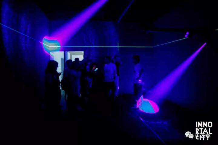 沈凌昊 《美丽作为一种消耗》  灵感源于艺术家沈凌昊看到萤火虫在草丛中发光的身体。