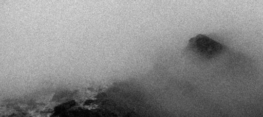 秋麦 《山海图 #10》, 2012,摄影墨本、三桠皮纸,42cm x 75cm (画心 image 21cm x 47cm)