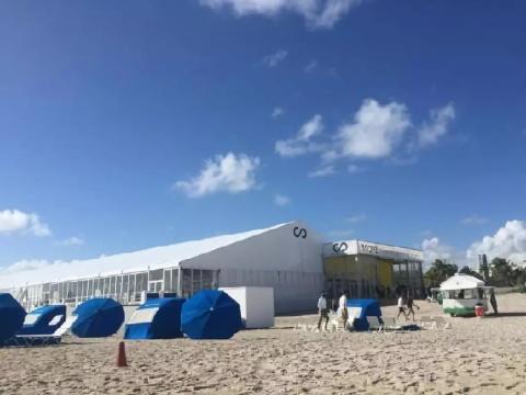 海滩艺博会白色展棚示意图片
