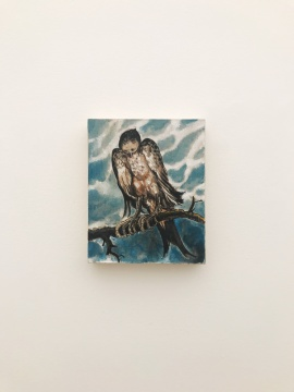 李继开《鸟》27×22cm 布面丙烯 2018
