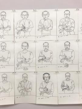 王一凡以每三天一张的速度保持了多年的对自我的描绘