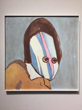 《肖像4》 60×60cm 木板油画 2018