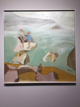 《人与海3》 60×60cm 木板油画 2018
