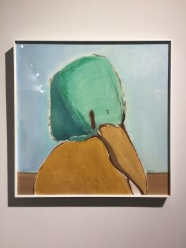 《肖像6》60×60cm 木板油画 2018