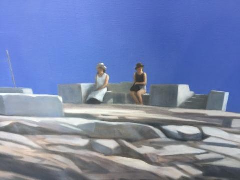《蓝色天空(遗迹)》 220×310cm 布面油画 2018