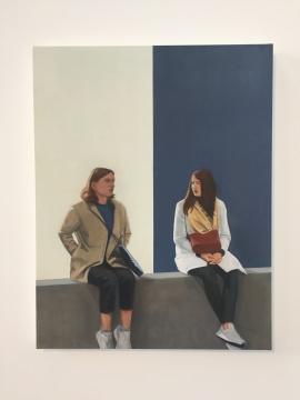 《交谈》 114.9×90cm 布面油画 2018