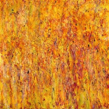 《金色田地》布上丙烯 152.4x152.4cm 2016