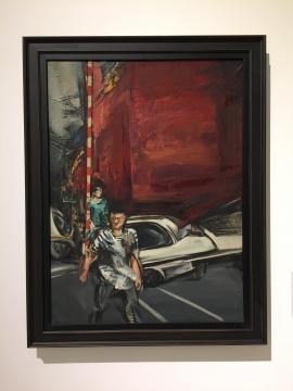 孟禄丁 《红墙》 115×85cm 布面油画 1986