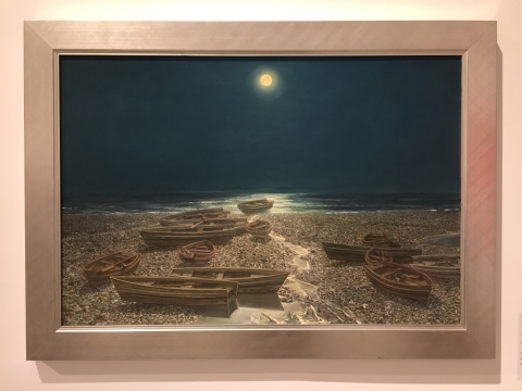胡建成 《月是故乡明》 117.2×80cm 布面油画 2010