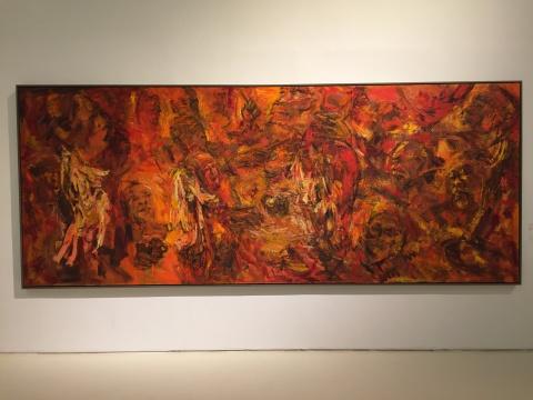 石煜 《流动的古韵系列之一》 180×450cm 布面油画 2018