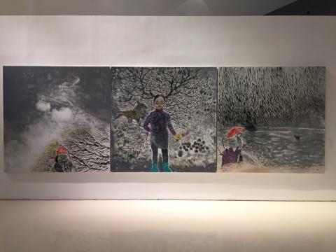 申玲 《秋风秋雨奈何天》 200×200cm×3 布面油画 2016
