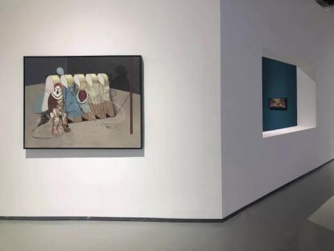 """""""李昌龙:离岸""""展览现场"""