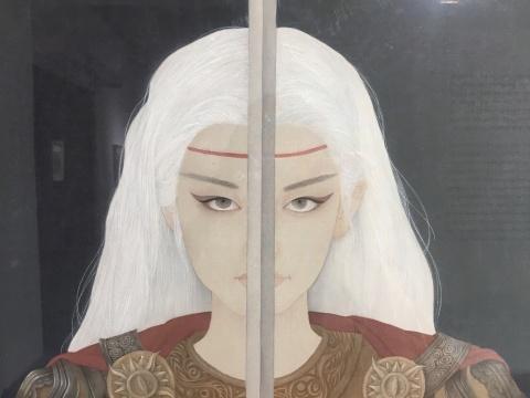 周雪 《游·梦系列——黑暗的光》 97x58cm 绢本设色 2017