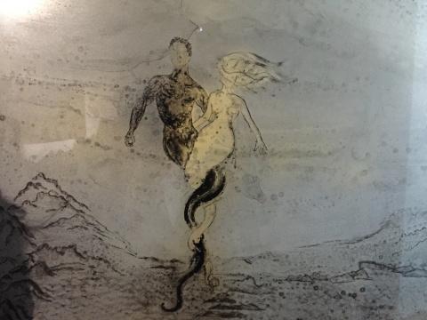 《惊园八境》中的伏羲、女娲