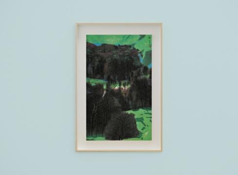 《青山翠色之三》 95×60cm 纸本设色 2018