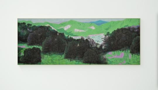 《松风悠扬之十一》 88×233cm 纸本设色 2018