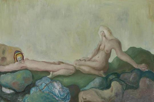 《娇羞的,太娇羞的》 200x300cm 布面油画 2018