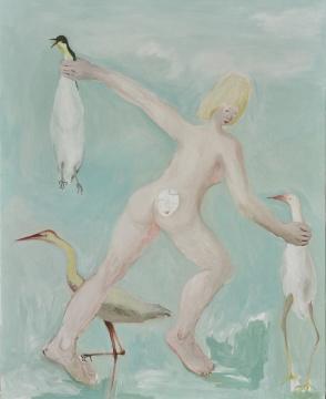 《三只鸟》160×130cm 布面油画 2018