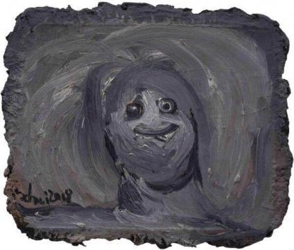 《训练一个眼神》 24×30cm 布面油画 2018