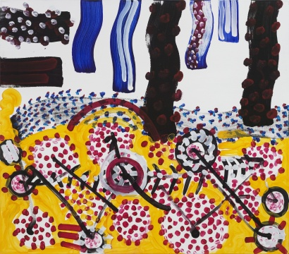 彼得·韦恩·刘易斯《时光弯曲组曲45号》140 x 160 cm 亚麻布面丙烯 2017