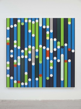 萨拉·莫里斯《财产必须被视为报酬》214 x 214 cm布面,家用光泽涂2018