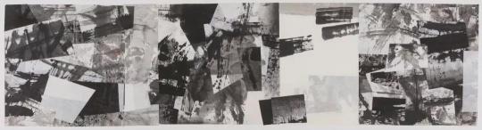 《无题-作品6081-88》宣纸、水墨 拼贴 102x407cm 1988