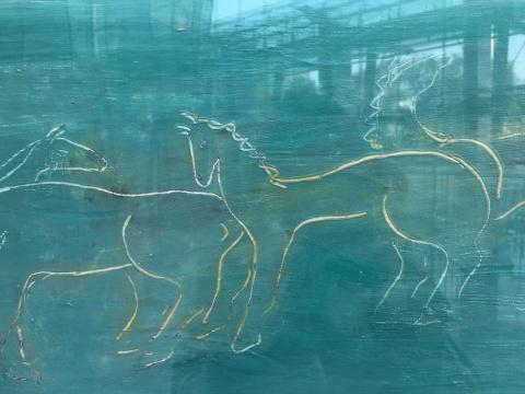 常玉 《草原上的马群》 44×80cm 布面油画 1930年代  估价:3000万-5000万元