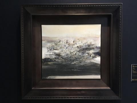 赵无极 《06.10.69》 50×45.5cm 布面油画 2969  估价:700万-900万元