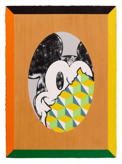 《理性爆棚的米奇》 93×68cm 亚克力颜料、画布 2018