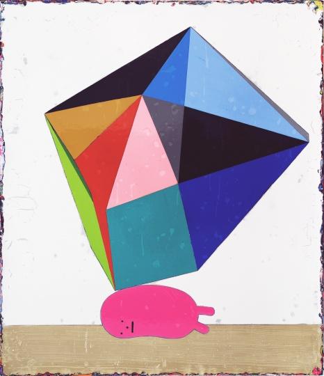《休息中的薛西弗斯》 70×60cm 亚克力颜料、画布 2017