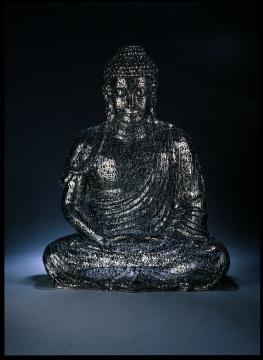 郑路《闻语心觉》100 × 78 × 60 cm 不锈钢 2008