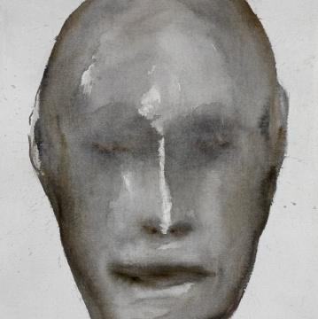 乌戈·吉莱塔 《面孔》 100 × 100 cm布面水彩2018