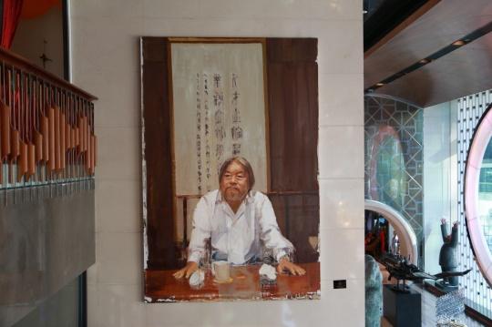 何汶玦《黄先生》300 × 150cm 布面油画 2013