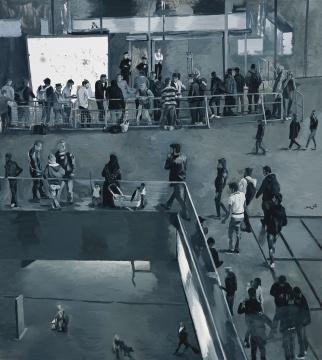 刘小东 《难民》 200 × 180 cm 布面油画 2015 侨福当代美术馆藏