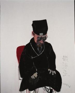 王玉平《道士6》150 × 120 cm 布面丙烯、油画棒 2007
