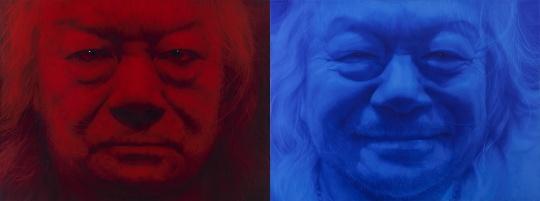 姜亨九《意义上的重叠——GW》每幅 218 × 290 cm布面油画2015